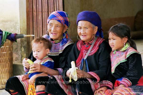 Marché etnies  de Bac Ha nord Vietnam