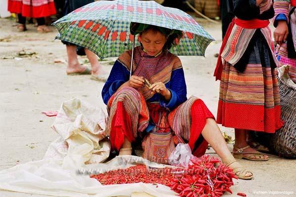 Marché de Bac Ha nord Vietnam