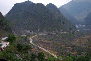 route rocheuse de méo vac vietnam